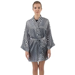 Abstract Animated Ornament Background Long Sleeve Kimono Robe