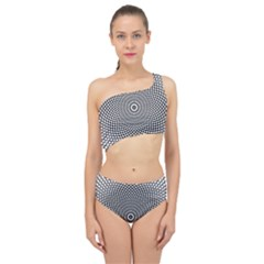 Abstract Animated Ornament Background Spliced Up Two Piece Swimsuit