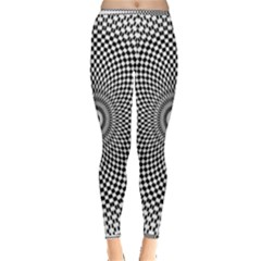 Abstract Animated Ornament Background Inside Out Leggings
