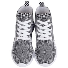 Abstract Animated Ornament Background Women s Lightweight High Top Sneakers