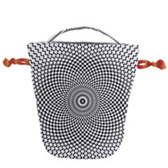 Abstract Animated Ornament Background Drawstring Bucket Bag