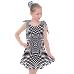 Abstract Animated Ornament Background Kids  Tie Up Tunic Dress