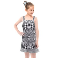 Abstract Animated Ornament Background Kids  Overall Dress