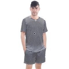Abstract Animated Ornament Background Men s Mesh Tee And Shorts Set