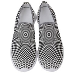 Abstract Animated Ornament Background Men s Slip On Sneakers
