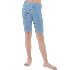 Airplane Airplanes Blue Sky Kids  Mid Length Swim Shorts