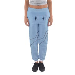 Airplane Airplanes Blue Sky Women s Jogger Sweatpants