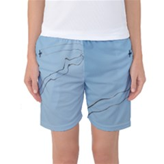 Airplane Airplanes Blue Sky Women s Basketball Shorts