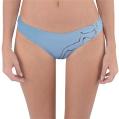 Airplane Airplanes Blue Sky Reversible Hipster Bikini Bottoms by Mariart