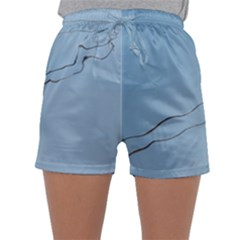 Airplane Airplanes Blue Sky Sleepwear Shorts