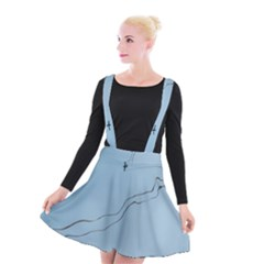 Airplane Airplanes Blue Sky Suspender Skater Skirt by Mariart