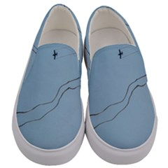 Airplane Airplanes Blue Sky Men s Canvas Slip Ons