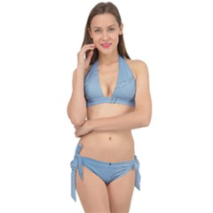 Airplane Airplanes Blue Sky Tie It Up Bikini Set by Mariart