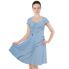 Airplane Airplanes Blue Sky Cap Sleeve Midi Dress