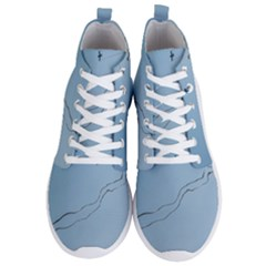 Airplane Airplanes Blue Sky Men s Lightweight High Top Sneakers