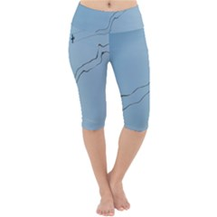 Airplane Airplanes Blue Sky Lightweight Velour Cropped Yoga Leggings