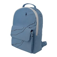 Airplane Airplanes Blue Sky Flap Pocket Backpack (large)