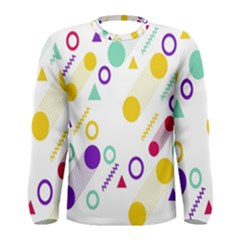 Colorful Geometric Graphic Men s Long Sleeve Tee