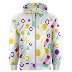 Colorful Geometric Graphic Men s Zipper Hoodie