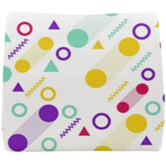 Colorful Geometric Graphic Seat Cushion by Jojostore