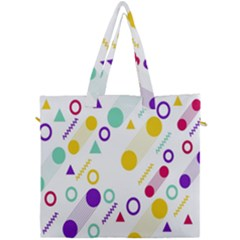 Colorful Geometric Graphic Canvas Travel Bag by Jojostore