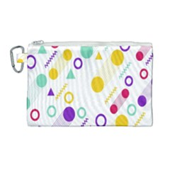 Colorful Geometric Graphic Canvas Cosmetic Bag (large) by Jojostore