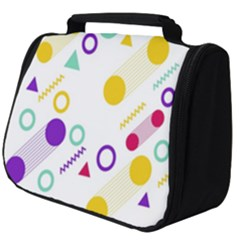 Colorful Geometric Graphic Full Print Travel Pouch (big)