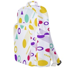 Colorful Geometric Graphic Double Compartment Backpack