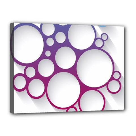 Circle Graphic Canvas 16  X 12  (stretched)