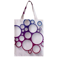 Circle Graphic Zipper Classic Tote Bag