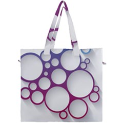 Circle Graphic Canvas Travel Bag by AnjaniArt