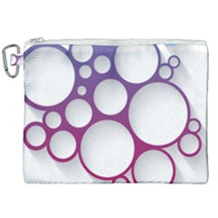 Circle Graphic Canvas Cosmetic Bag (xxl)