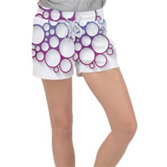 Circle Graphic Women s Velour Lounge Shorts