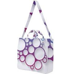 Circle Graphic Square Shoulder Tote Bag