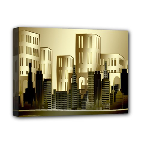 Architecture City House Deluxe Canvas 16  X 12  (stretched)