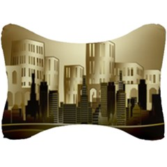 Architecture City House Seat Head Rest Cushion