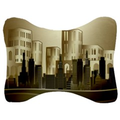 Architecture City House Velour Seat Head Rest Cushion
