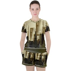 Architecture City House Women s Tee And Shorts Set