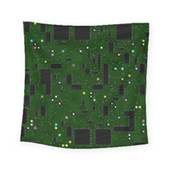 Board Conductors Circuits Square Tapestry (small)