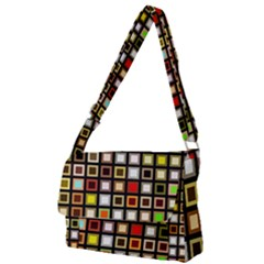 Squares Colorful Texture Modern Art Full Print Messenger Bag by Bejoart