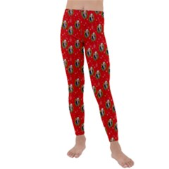Trump Wrait Pattern Make Christmas Great Again Maga Funny Red Gift With Snowflakes And Trump Face Smiling Kids  Lightweight Velour Leggings by snek