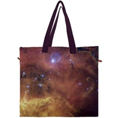 Comic Astronomy Sky With Stars Orange Brown And Yellow Canvas Travel Bag by snek