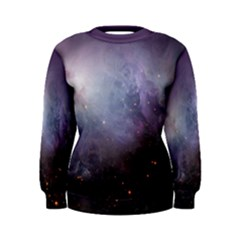 Orion Nebula Pastel Violet Purple Turquoise Blue Star Formation Women s Sweatshirt by genx