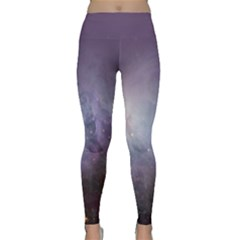 Orion Nebula Pastel Violet Purple Turquoise Blue Star Formation Classic Yoga Leggings