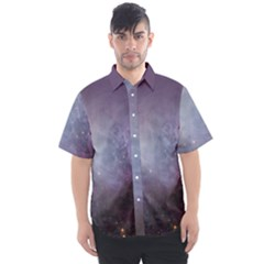 Orion Nebula Pastel Violet Purple Turquoise Blue Star Formation Men s Short Sleeve Shirt by genx