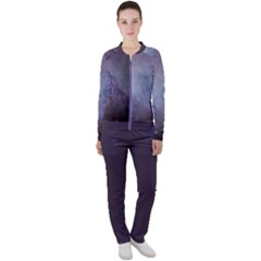 Orion Nebula Pastel Violet Purple Turquoise Blue Star Formation Casual Jacket And Pants Set by genx