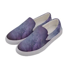 Orion Nebula Pastel Violet Purple Turquoise Blue Star Formation Women s Canvas Slip Ons by genx