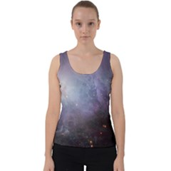 Orion Nebula Pastel Violet Purple Turquoise Blue Star Formation Velvet Tank Top by genx