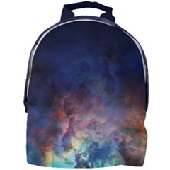 Lagoon Nebula Interstellar Cloud Pastel Pink, Turquoise And Yellow Stars Mini Full Print Backpack by snek