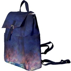 Lagoon Nebula Interstellar Cloud Pastel Pink, Turquoise And Yellow Stars Buckle Everyday Backpack by snek